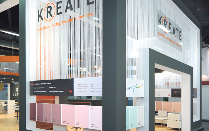 Verfspecialist Kreate vroeg standbouwbedrijf Groenendal een product-stand te bouwen